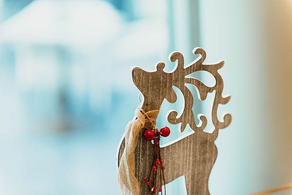 Drewniany renifer
