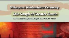 Jain Sangh of Greater Austin – Invitation to our Khatmuhurat and Shilanyas ceremony June 10-12th