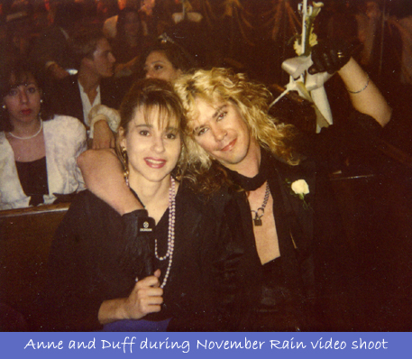 With Guns N' Roses Duff on Shoot