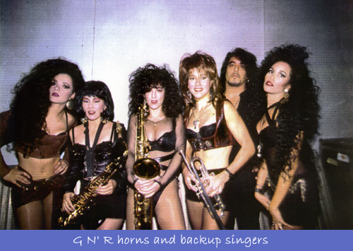 With Guns N' Roses Horns & Singers