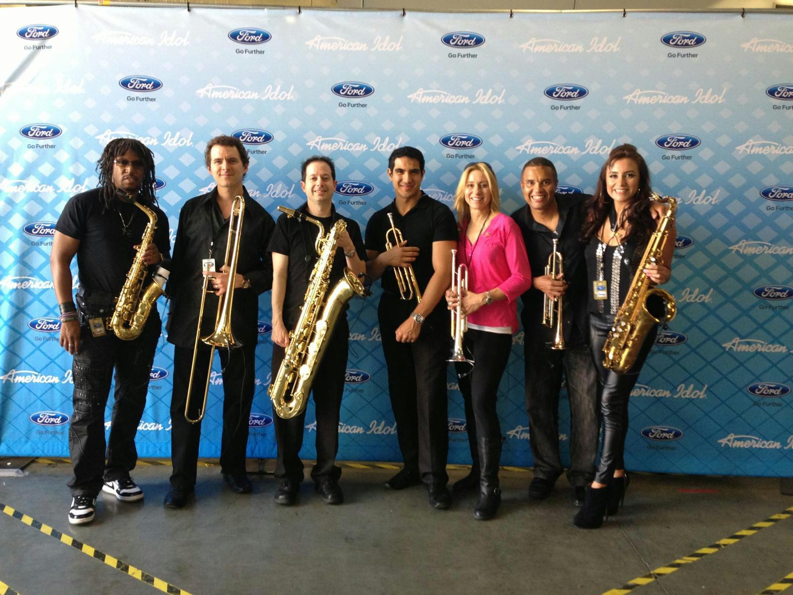 American Idol Horn Section