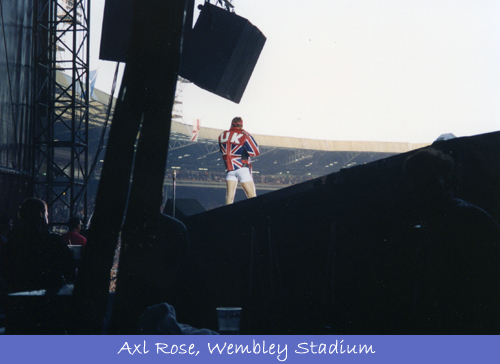 Backstage Guns N' Roses, Axl Rose