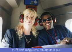 Guns N' Roses Helicopter Ride To Gig