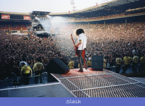 Behind Slash of Guns N' Roses