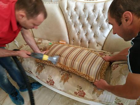 Химчистка мебели из шелка, льна, вискозы