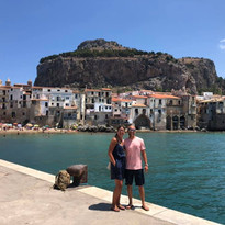 couple in Cefalù Port