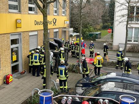 Verkehrsunfall auf der Moerser Straße in Büderich
