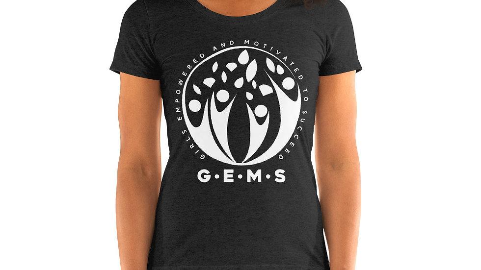 GEMS (White) Women's short sleeve t-shirt