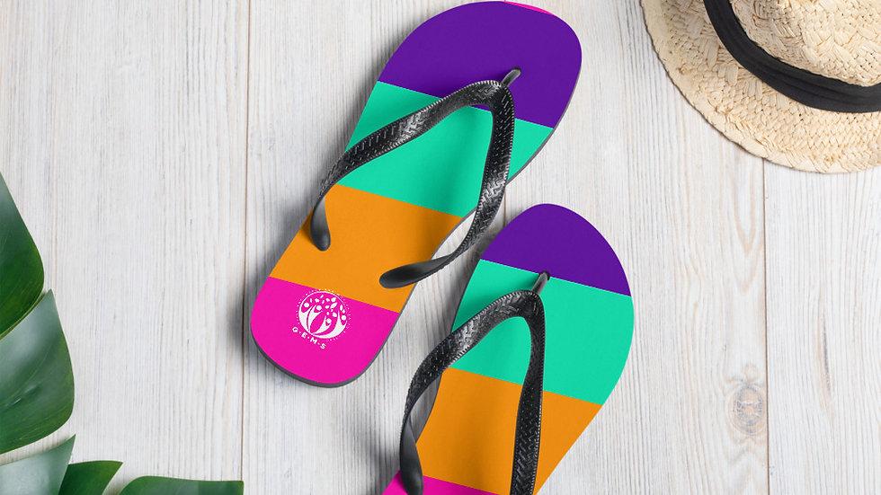GEMS Color Stripe Flip-Flops