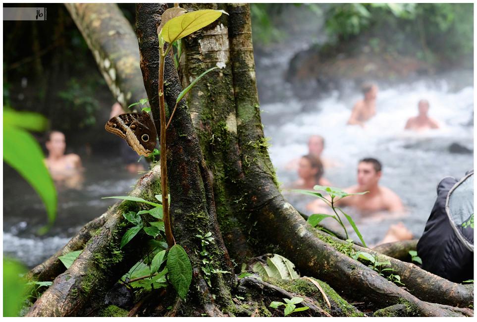 heiße Quellen, baden, Costa Rica