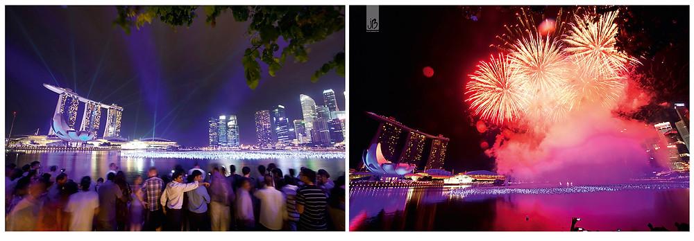 Singapur Feuerwerk, Silvester Singapur