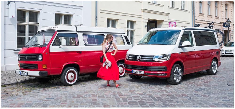 Salz auf Reisen, VW Bus rot weiß