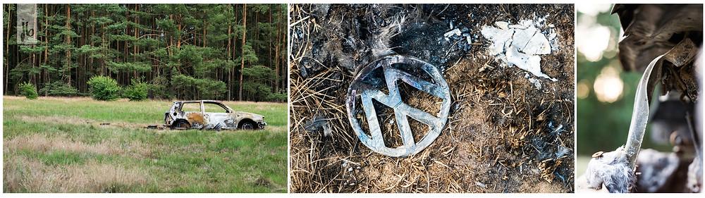 abgebrannt Auto VW