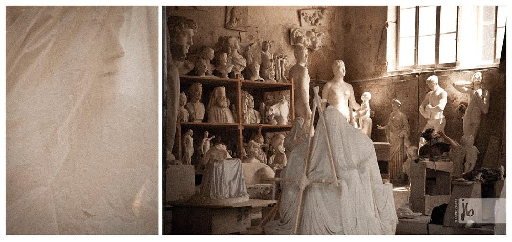 Marmorwerkstatt in Carrara, Marmorskulptur, Marmorwerkstatt