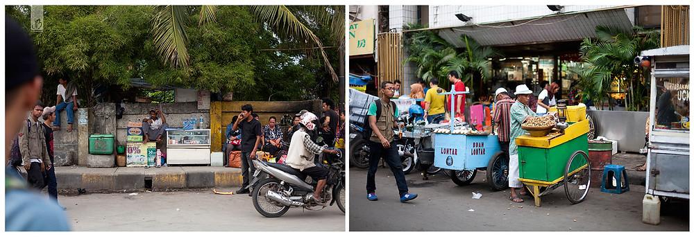 Jakarta, Straßenleben Jakarta, Erdnussverkäufer