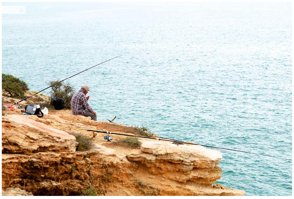 Angler an der Algarve