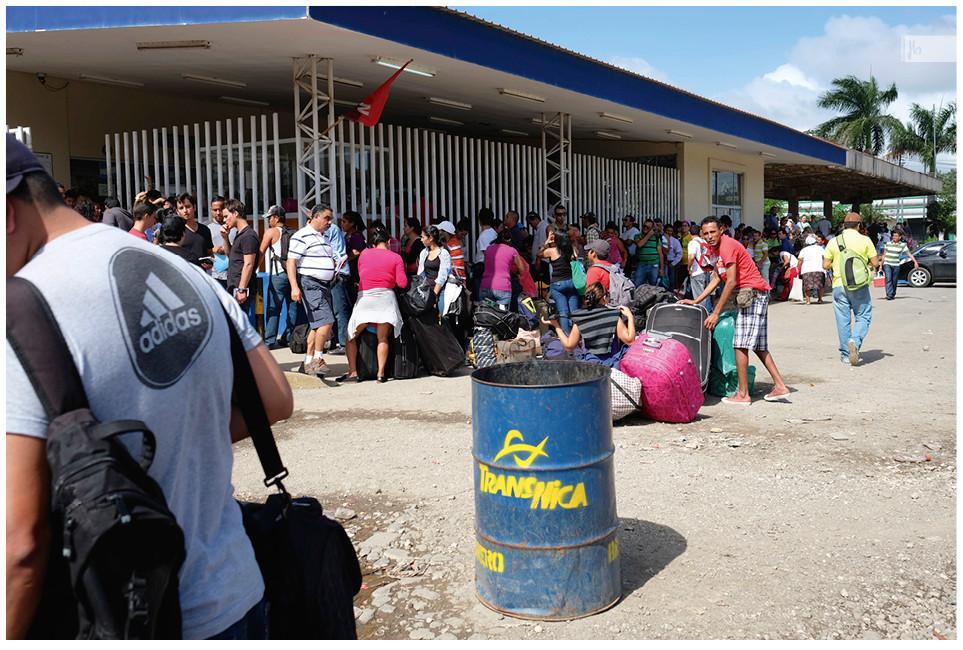 Grenzübergang Costa Rica Nicaragua