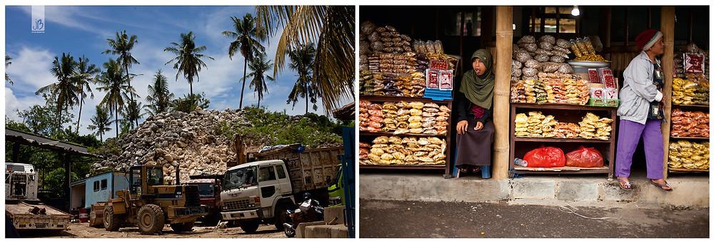 Bali, balinesische Baustelle, Markt au
