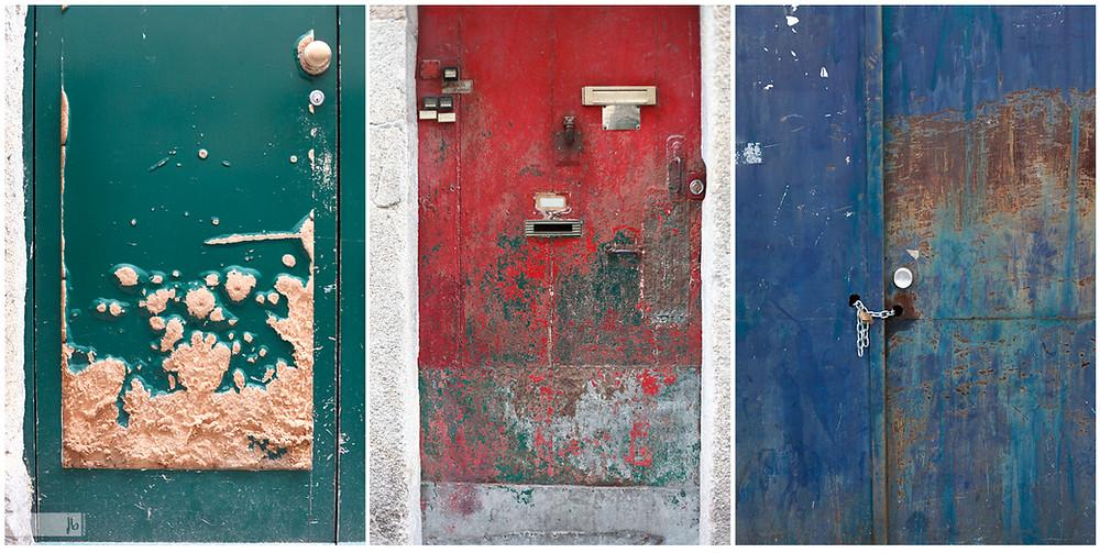 alte Türen, alte Tür, Tür, Türen, grüne Tür, rote Tür, blaue Tür, verrostete Tür