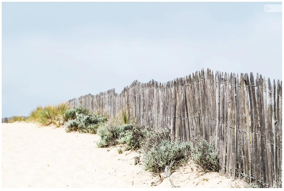 Strand von Biscaya, Strandzaun, Biscayabucht