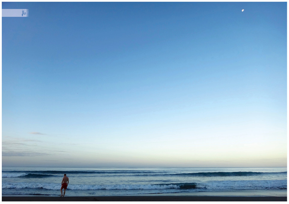Strand mit Mond, Costa Rica