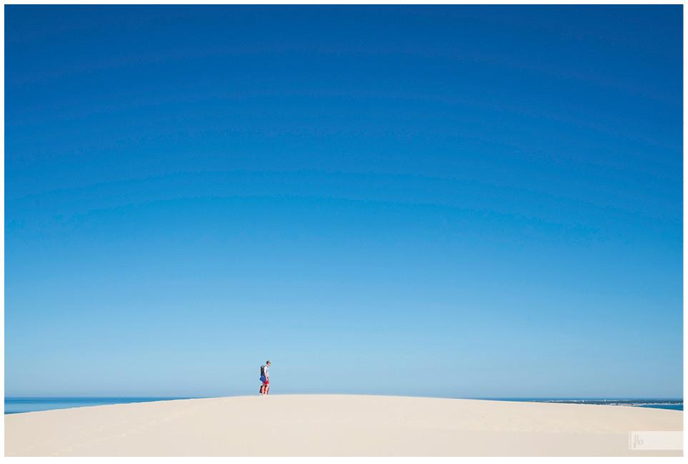 Dune du Pilat, blauer Himmer