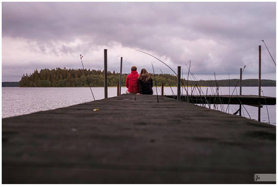 Schweden See mit Steg