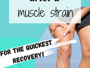 Follow these steps for the fastest recovery after a muscle strain