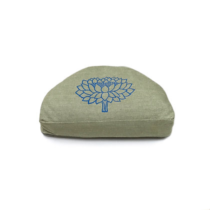 Meditationskissen Halbmond Lotus