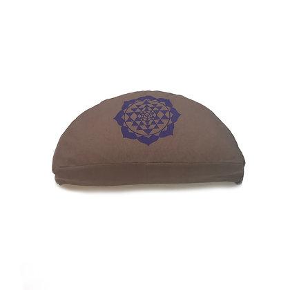 Meditationskissen Sri-Yantra Halbmond