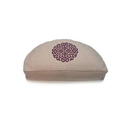 Meditationskissen OM-Mandala Halbmond