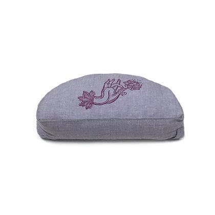 Meditationskissen Halbmond Lotushand