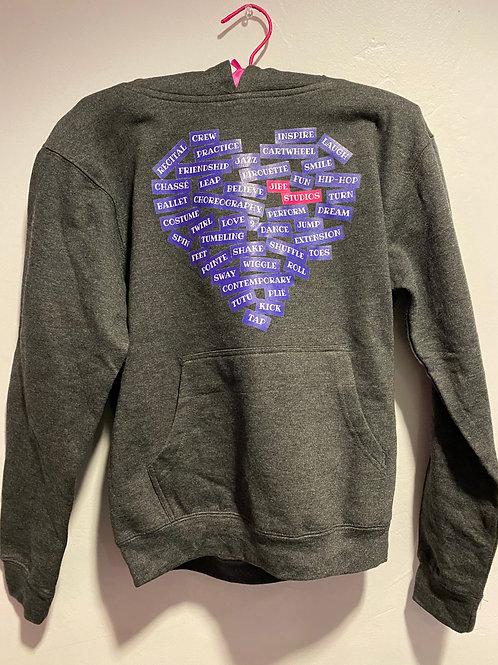 Gray Heart Hoodie