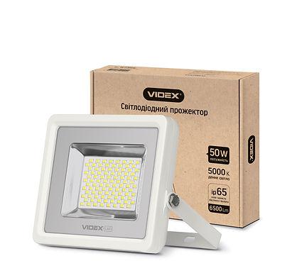 LED прожектор VIDEX 50W 5000K 220V White