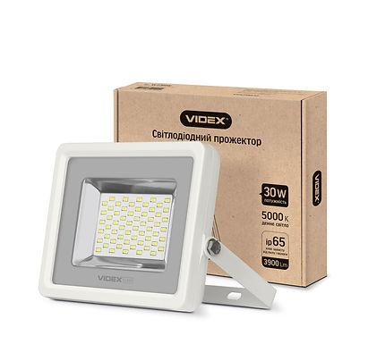 LED прожектор VIDEX 30W 5000K 220V White