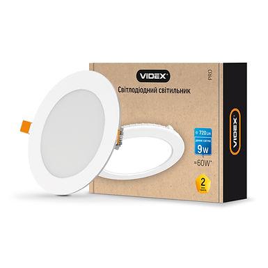 LED светильник встраиваемый круглый VIDEX 9W 5000K 220V