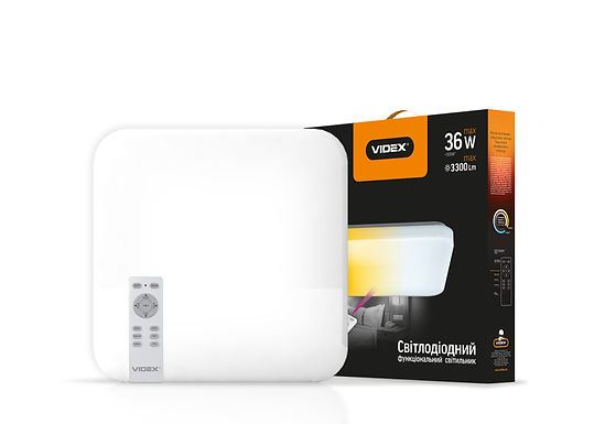 LED светильник функциональный квадратный  VIDEX 36W 2700-6500K 220V