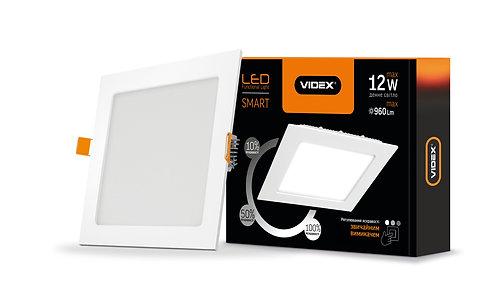 LED светильник встраиваемый квадрат VIDEX 12W 5000K 220V