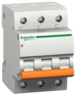 11222 Выключатель автомат. Трехполюсный, 6A Schneider Electric
