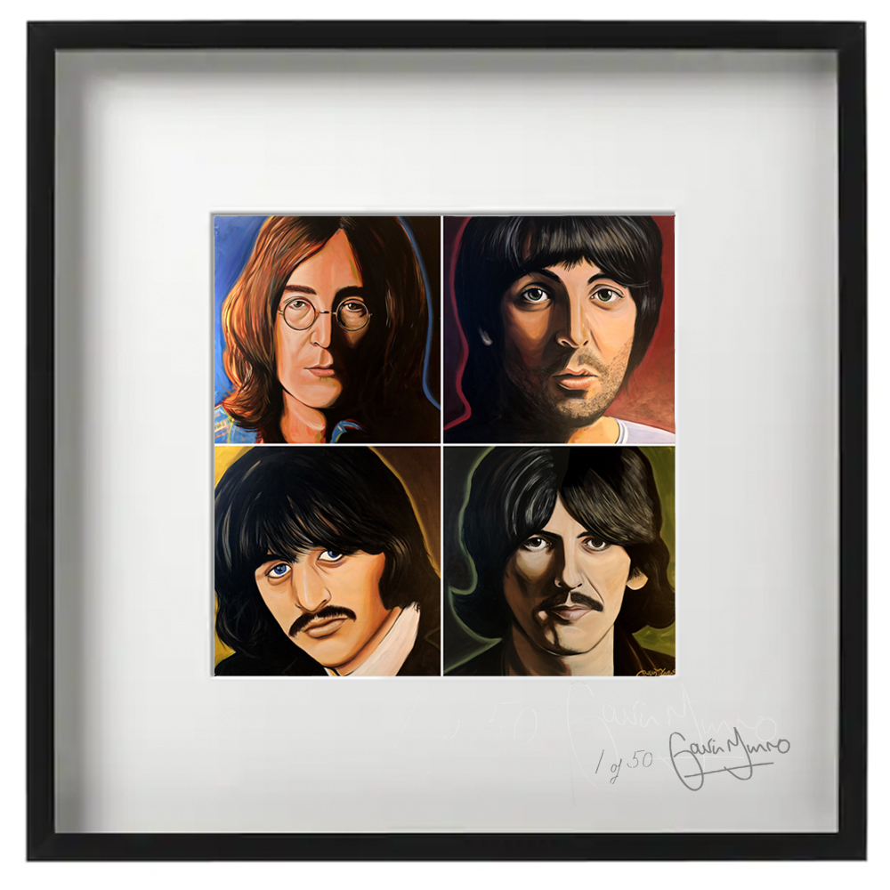 Beatles Quad framed print