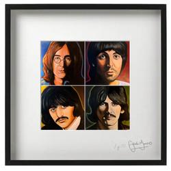 Beatles Quad framed print