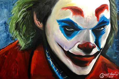 Portrait of Joker original artwork (120cm x 80cm)