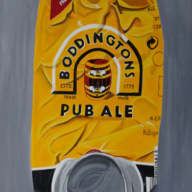 Crushed Boddingtons Can