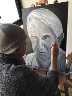 Painting the old fella