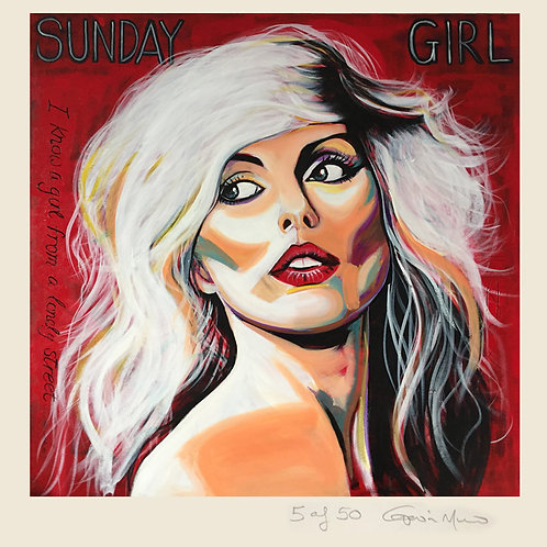 Blondie Sunday Girl - limited edition signed print