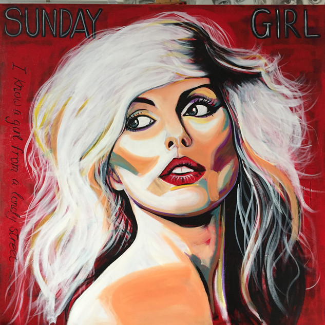 Sunday Girl - Blondie portrait