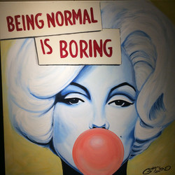 Being Normal is Boring 75x75 12000