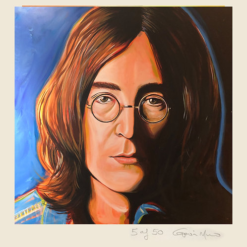 John Lennon - limited edition signed print