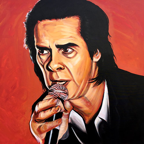 Nick Cave portrait (100cm x 100cm)