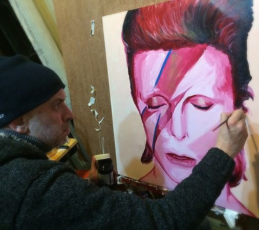 Painting Bowie
